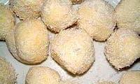 Les truffes au chocolat blanc