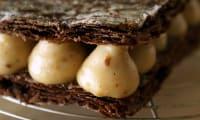 Millefeuille craquant au chocolat et crème pralinée
