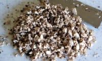 Préparer une duxelles de champignons