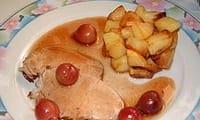 Roti de porc aux cerises