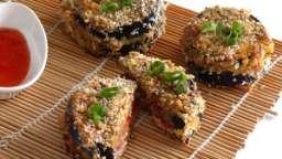 Sandwiches croustillants d'aubergine
