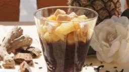 Riz noir au lait de coco et ananas rôti