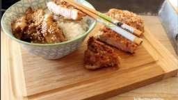 Porc tonkatsu et aubergines terriyaki