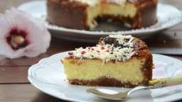 Cheesecake chocolat blanc spéculos litchi