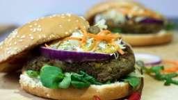 Burger végétarien au steak de lentilles