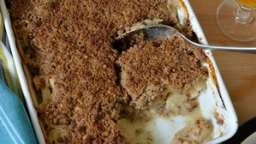 Poulet au cidre en crumble sarrasin et noisette