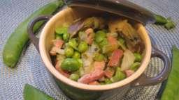 Vignarola ou cocotte de légumes de printemps