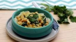 Curry de pois chiche au lait de coco et épinards