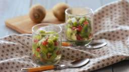 Verrines kiwi, grenade, coco
