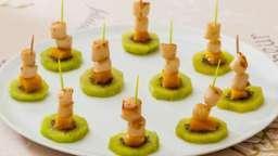 Kiwis aux pétoncles et à la mangue