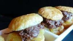 Hamburger de boudin basque aux pommes