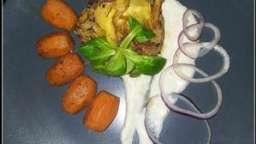 Colin au chorizo et crème de céleri au gingembre