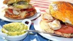 Chicken burger et mayo aux herbes