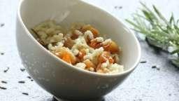 Risotto aux navets caramélisés, citron et romarin