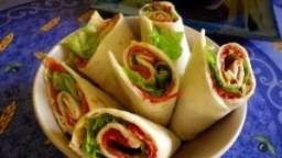 Wraps chorizo et tomates séchées