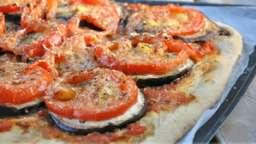 Pizza tomates aubergine