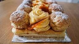 Saint-Honoré revisité vanille et praliné