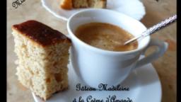 Gâteau Madeleine à la crème d'amande et confit d'orange
