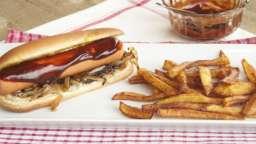 Hot dog à la fourme d'ambert