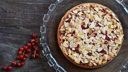 Gâteau groseilles rouge amande