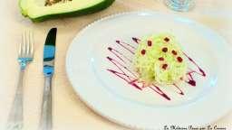 Salade de papaye verte, grenade et lait de coco