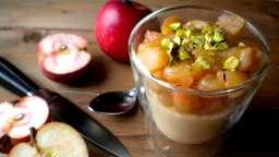 Polenta vanillée et pommes caramélisées