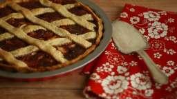 Crostata pomme et confiture de fraise