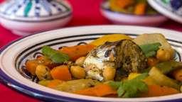 Tajine de maquereaux aux légumes