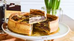 Flan pâtissier marbré
