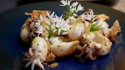Poêlée de supions aux fleurs d'ail des ours