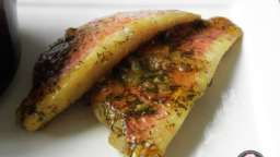 Rougets, marinade citron aneth