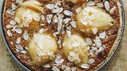 Tarte poire, crème d'amande et chocolat