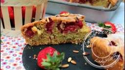 Moelleux aux fraises et pignons torréfiés