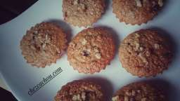 Muffins light aux cranberries, noix et avoine