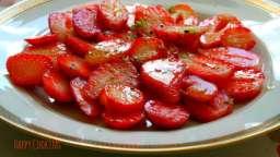 Carpaccio de fraises au poivre timut