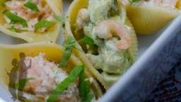Conchiglioni farcies au saumon ou aux crevettes