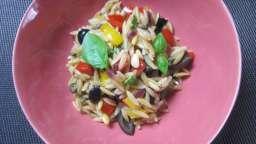 Salade de risoni aux poivrons
