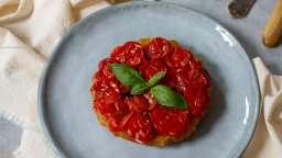 Tatins de tomates cerises au balsamique et basilic