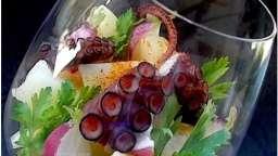Verrine de salade de poulpe à l'espagnole