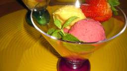 Glace à la fraise ou mangue allégée light