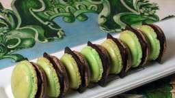 Macarons chocolat after eight