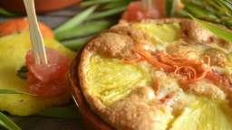 Clafoutis au pamplemousse et ananas