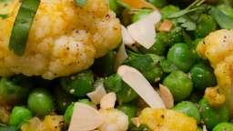 Curry de chou-fleur aux petits pois