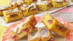 Gâteau aux prunes et chocolat blanc
