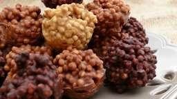 Boules croustillantes aux 3 chocolats