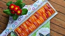 Tarte orange sanguine, crème de calisson