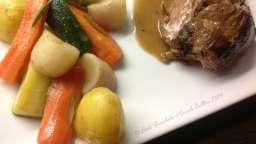 Epaule d'agneau confite aux épices et romarin