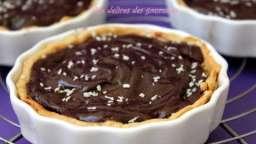 tartelettes aux poires crémeux au chocolat