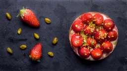 Tartelettes fraises et pistaches