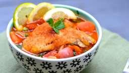 Gibelotte de poisson à l'espagnole